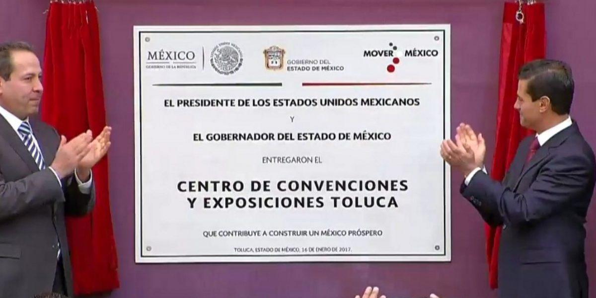 Peña Nieto inaugura el Centro de Convenciones y Exposiciones Toluca