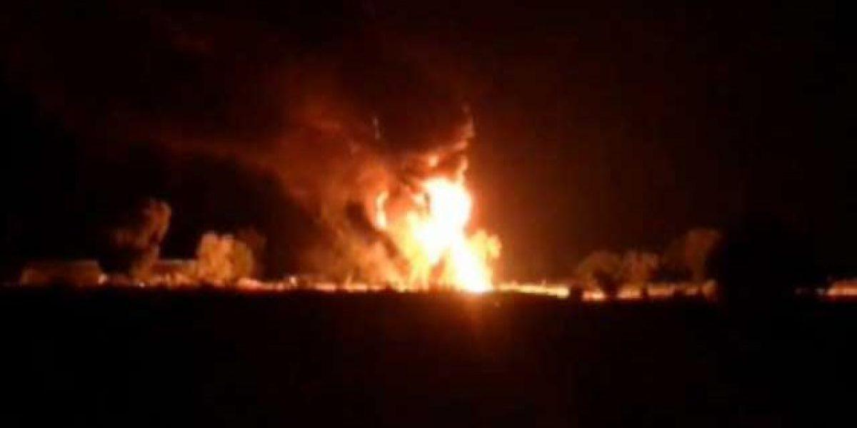 Se incendia ducto de Pemex por toma clandestina en Acatzingo
