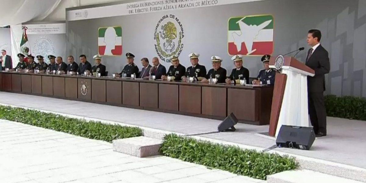 Peña Nieto pide dar certidumbre jurídica a las Fuerzas Armadas