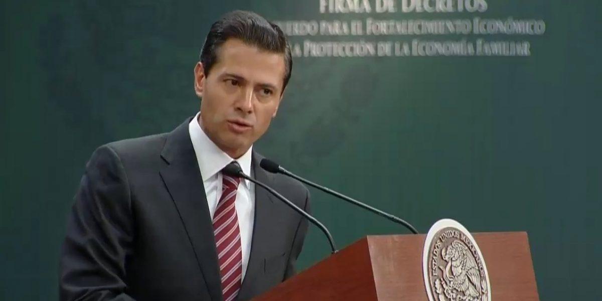 Peña Nieto llama a retornar capitales nacionales