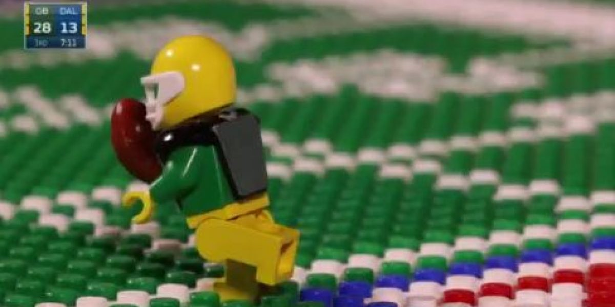 VIDEO: La dramática victoria de Green Bay sobre Dallas en versión Lego