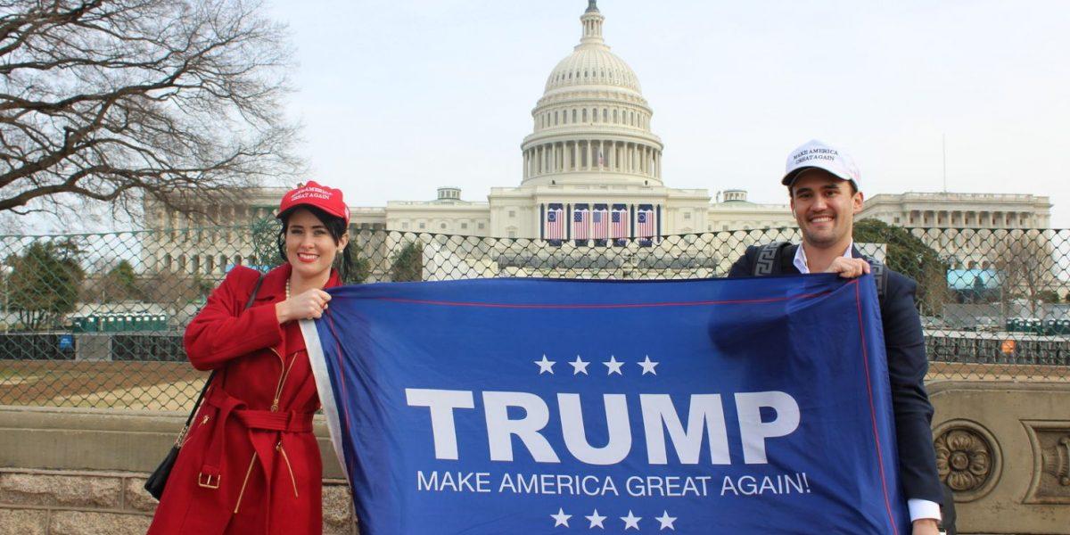 Así se emocionan partidarios de Trump por posesión en Washington