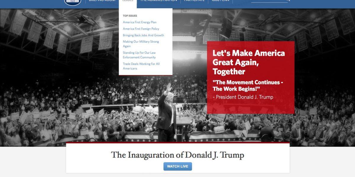 Trump borra sección LGBT de página de la Casa Blanca