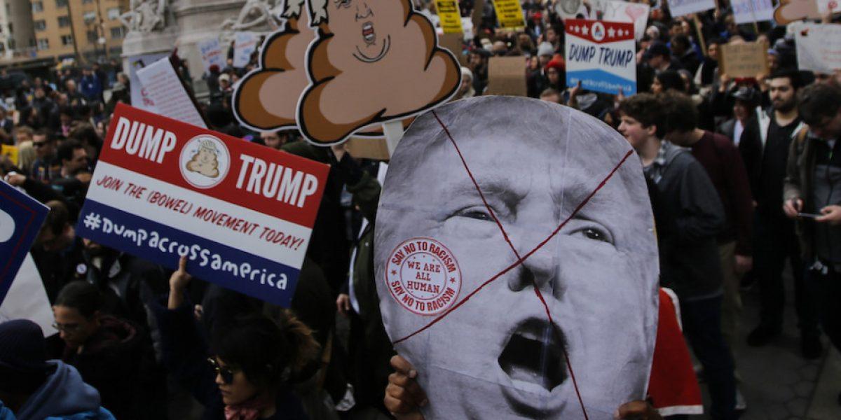 Suman 217 los detenidos por protestas contra Trump