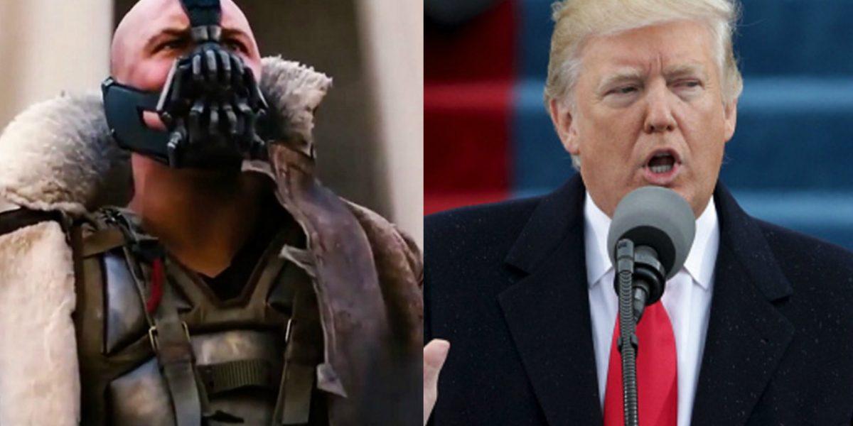 Donald Trump copia discurso de villano de Batman en toma de posesión