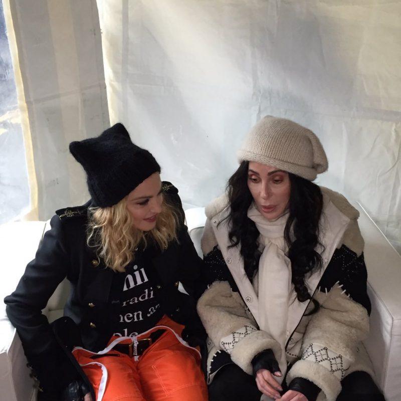 Madonna y Cher. Imagen Por: Twitter