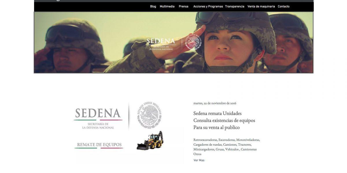 Detecta Sedena sitio de internet apócrifo que ofrece maquinaria pesada