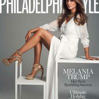 La portada de esta revista es una de las que más orgullosa tiene a Melania Trump. El blanco es uno de sus colores favoritos y así lo demostró en el baile inaugural junto a sus marido. | Philadelphia Style