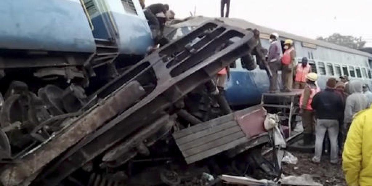 Tragedia ferroviaria deja más de 30 muertos en India