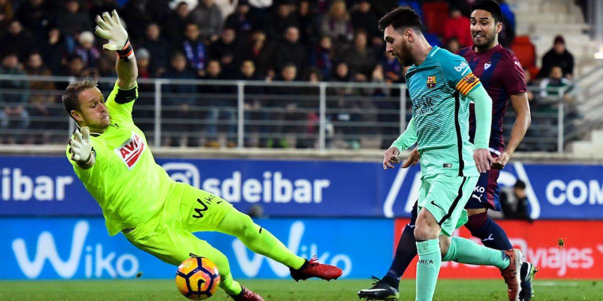 Barcelona golea a Eibar en la Liga de España