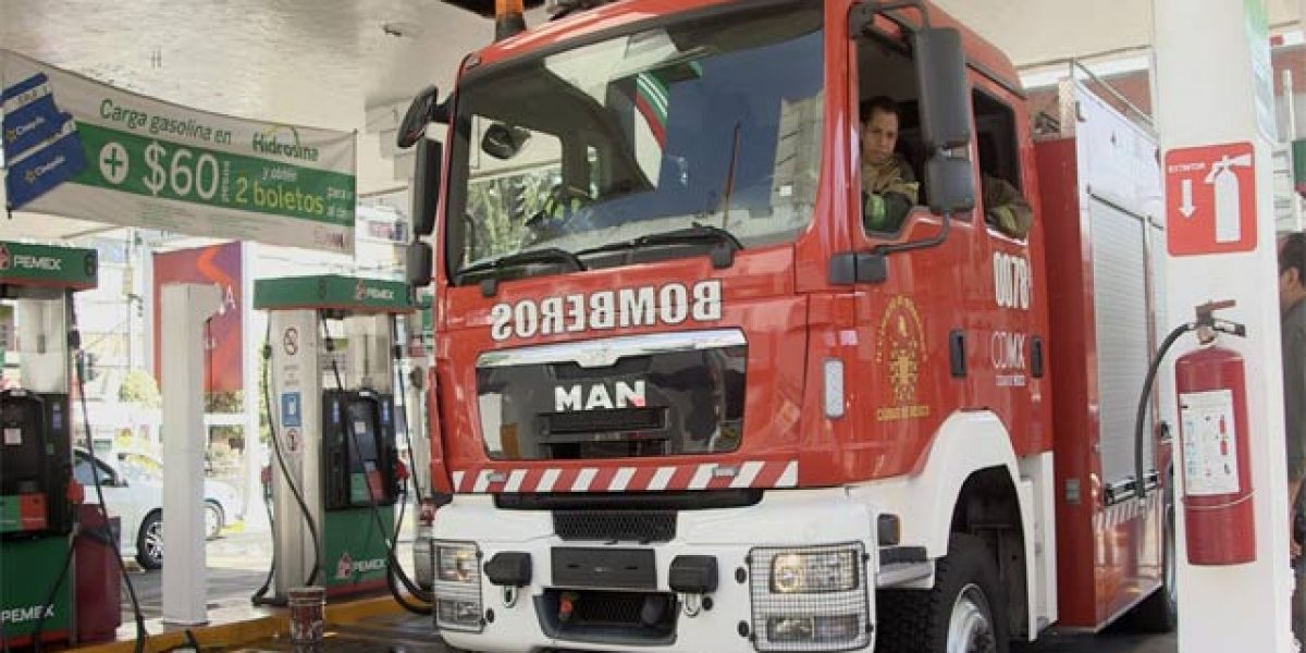 Gasolinazo apaga a bomberos