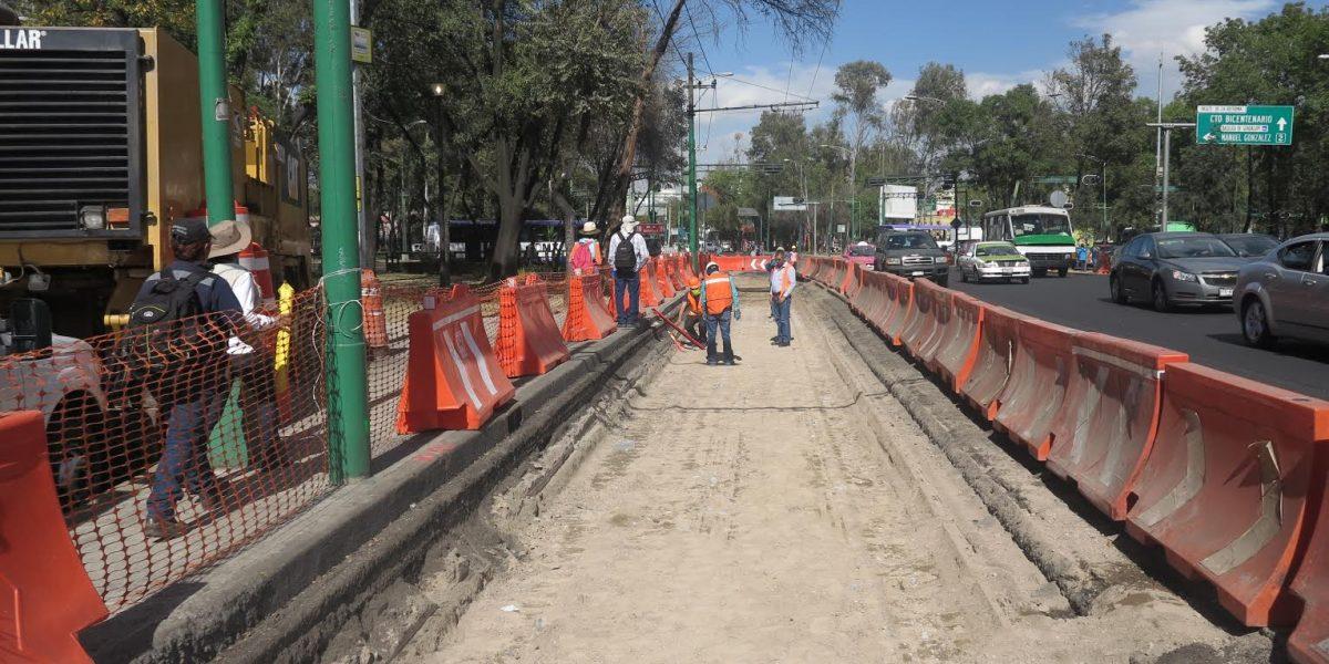 Metrobús Reforma: ya construyen carril confinado