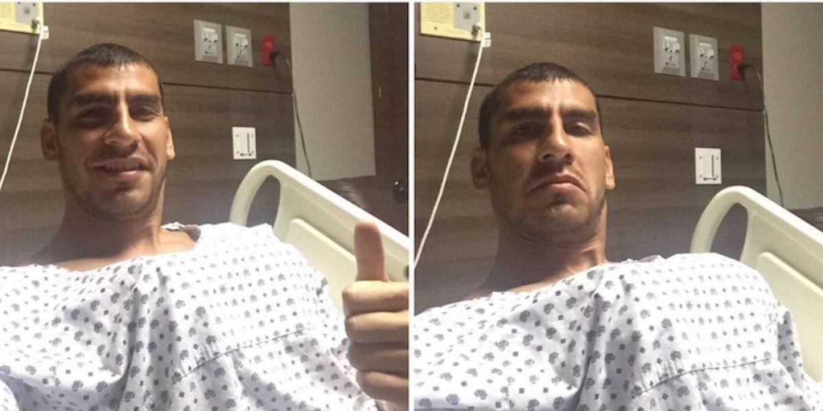 Nahuel Guzmán bromea tras ser operado con éxito