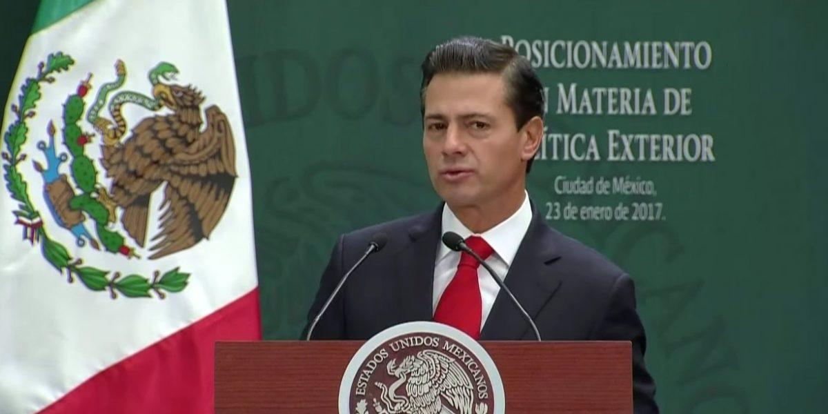 Ni confrontación ni sumisión, la solución es el diálogo: Peña Nieto ante EU