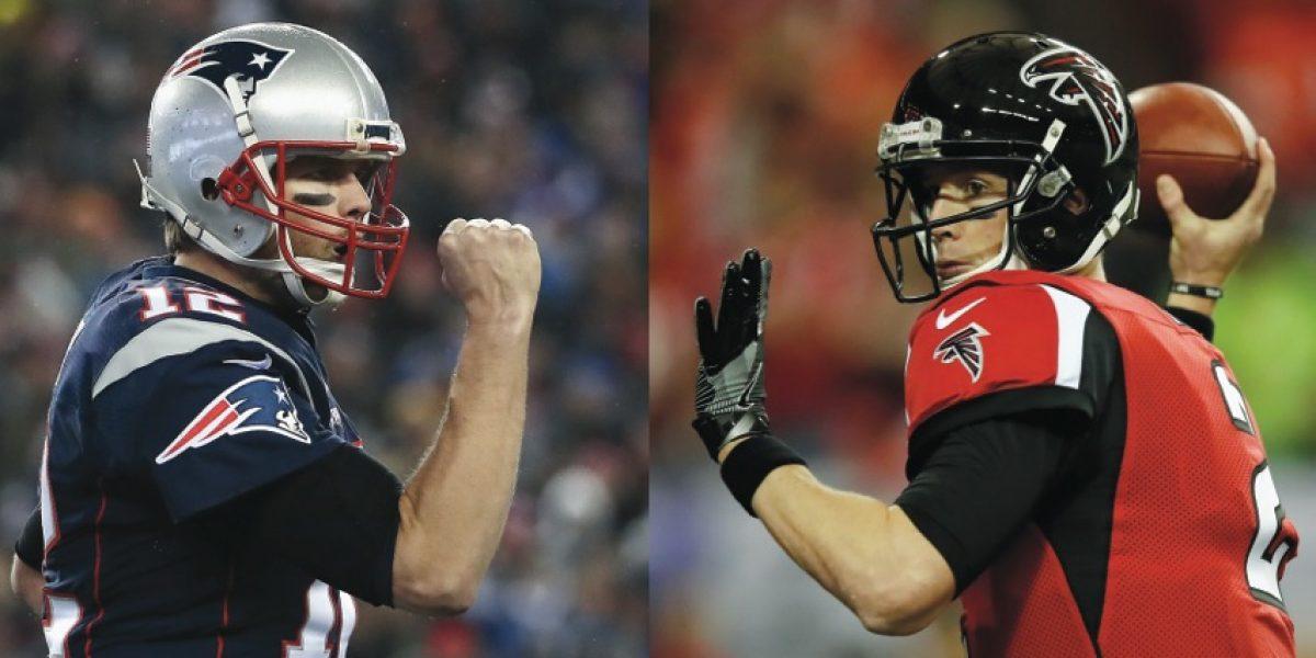Patriotas y Halcones se citan en el Super Bowl LI