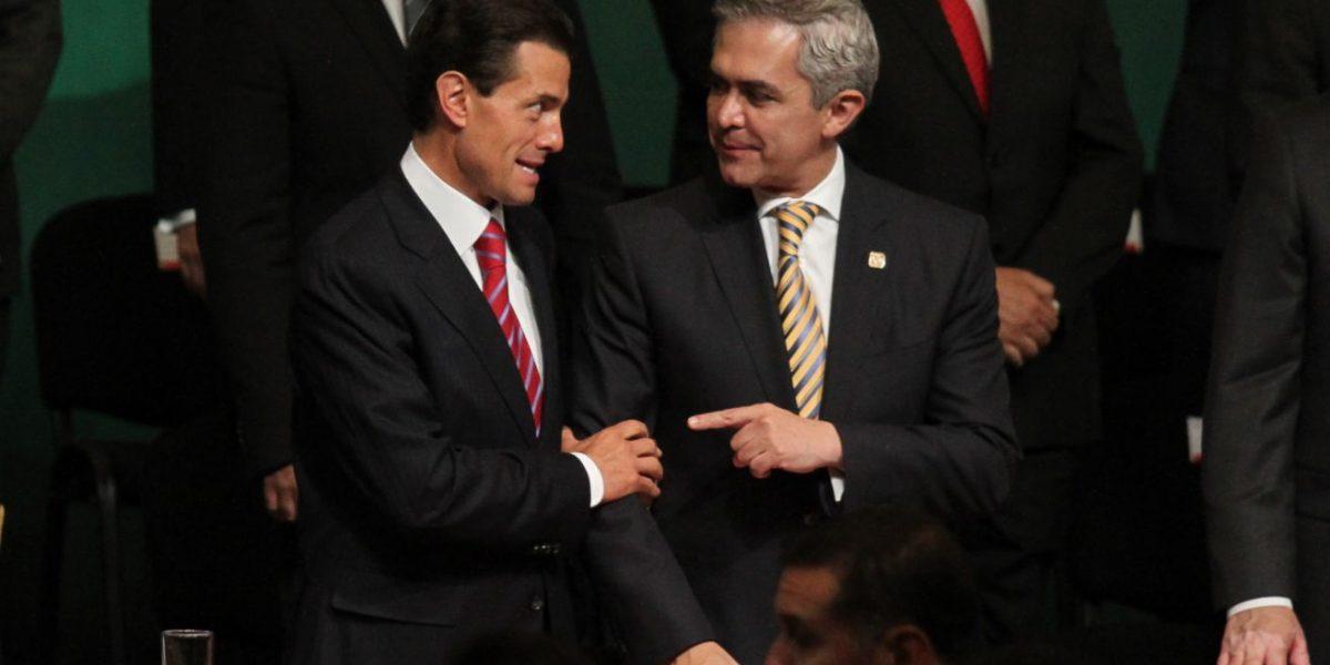 Apoyaremos tareas en beneficio de México, reitera Mancera a Peña Nieto
