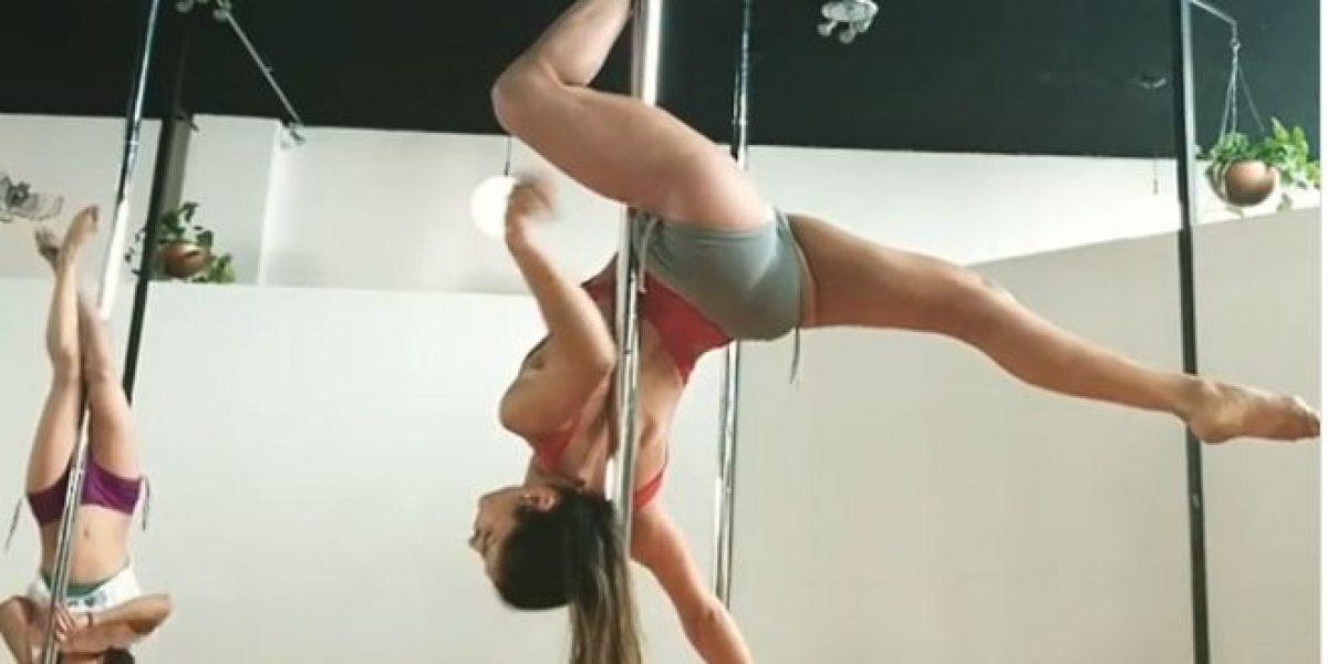 La impresionante rutina de María León en pole fitness