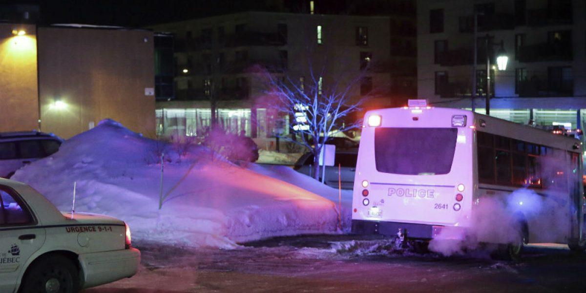 Tiroteo en mezquita de Quebec deja 5 muertos