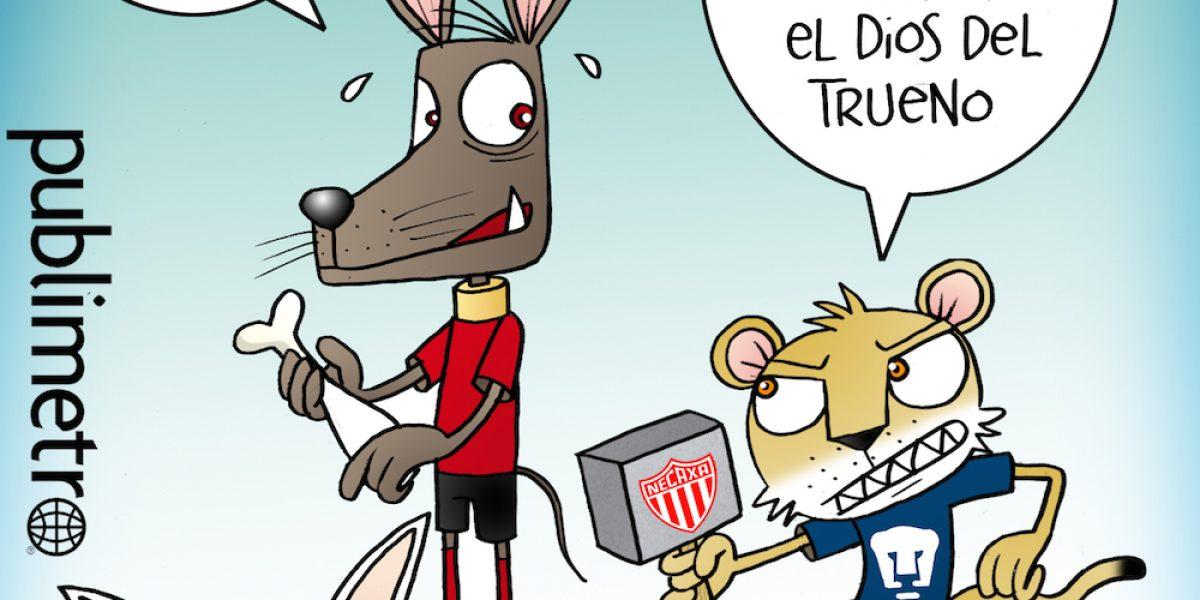 Pumas alcanza a Xolos en el liderato general, el Humor de Terrazas