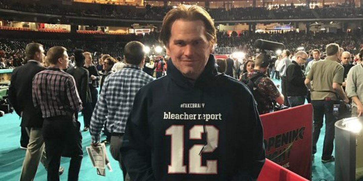 'Fake Brady' se vuelve la sensación en el 'Opening Night' del Super Bowl