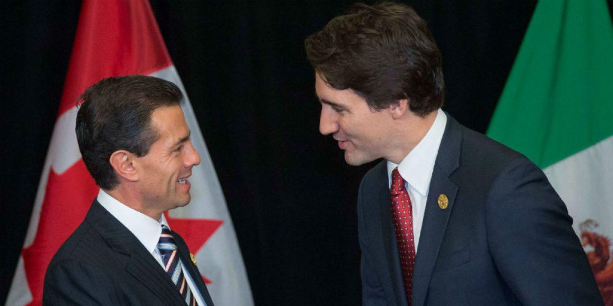Peña y Trudeau acuerdan por teléfono estrechar cooperación