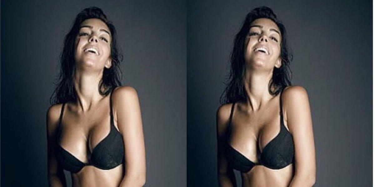 FOTO: Georgina Rodríguez novia de Cristiano, sorprende con candente split