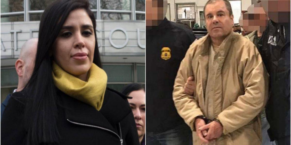 """VIDEO: Emma Coronel se reencuentra con """"El Chapo"""" en NY"""