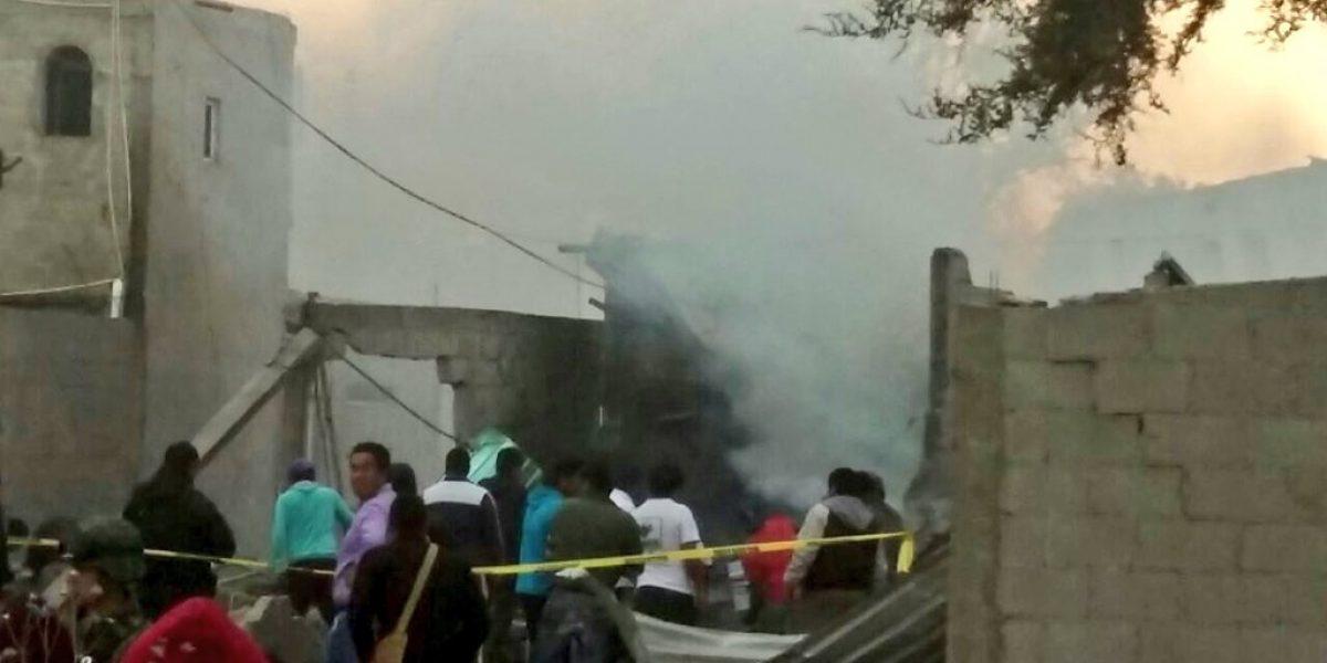 Explosión de polvorín en Tlaxcala deja al menos una persona muerta