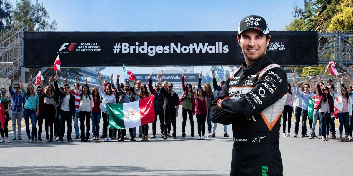 Checo Pérez lanza campaña contra el muro de Trump