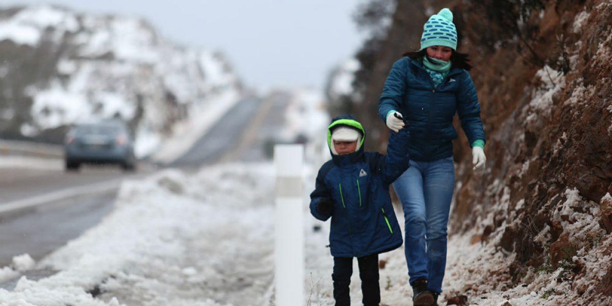 Alertan por posible caída de nieve o aguanieve en el norte del país