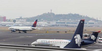 Chocan aviones en Aeropuerto Internacional de la Ciudad de México