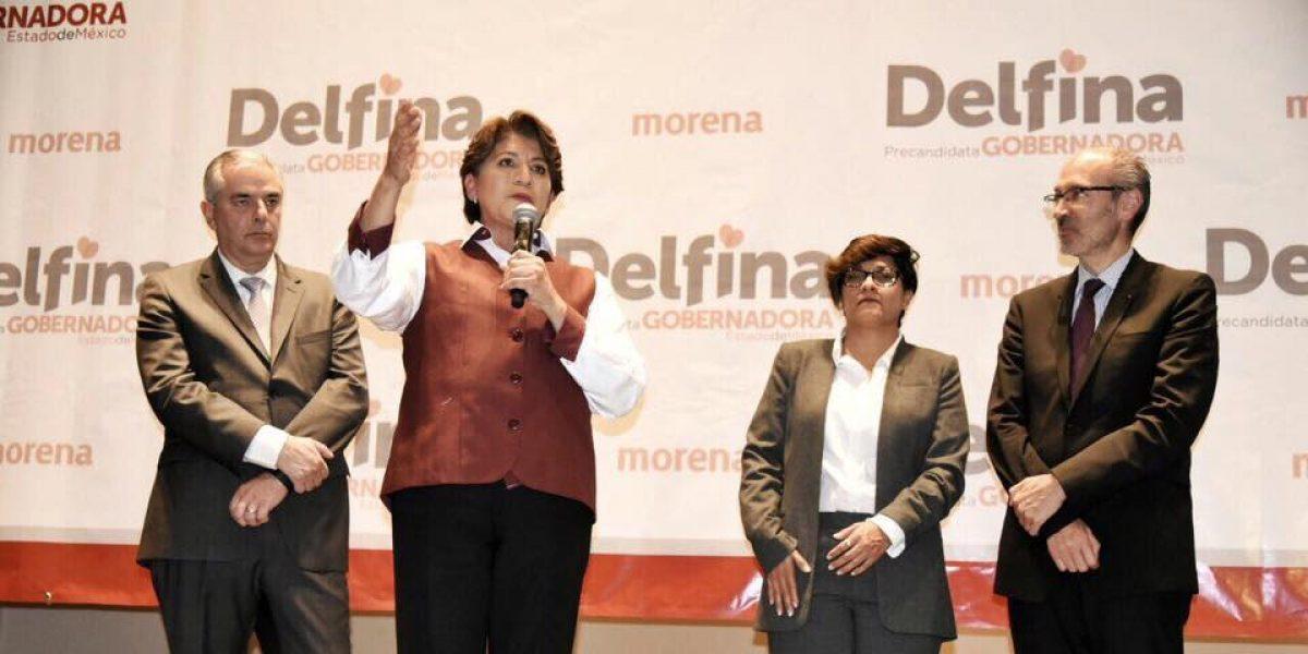 Multan a Morena y a Delfina Gómez por actos anticipados en Edomex