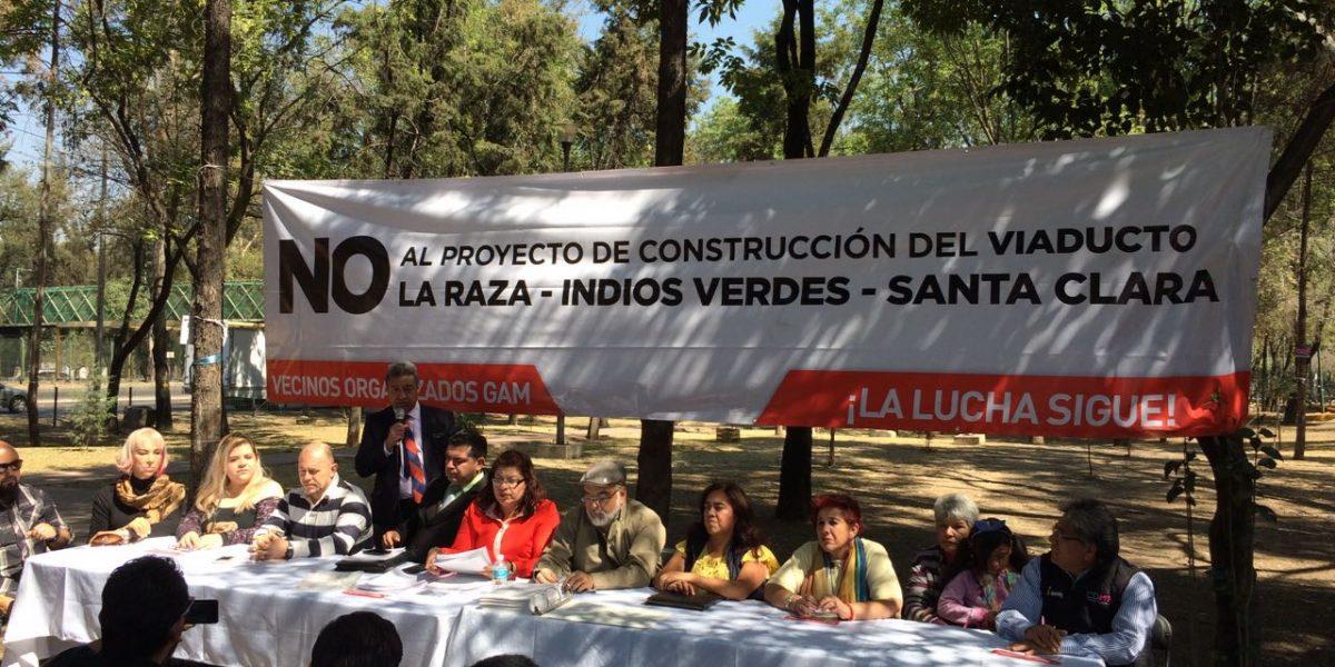 Vecinos de GAM insisten en que se cancele Viaducto Indios Verdes