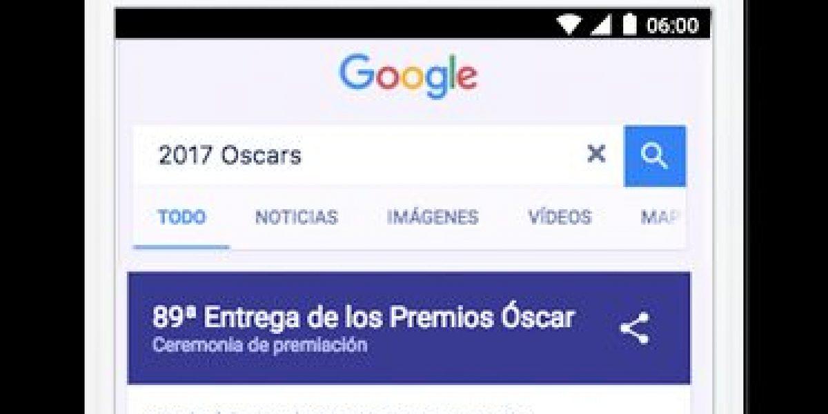10 cosas que puedes preguntar a Google sobre los Premios Óscar