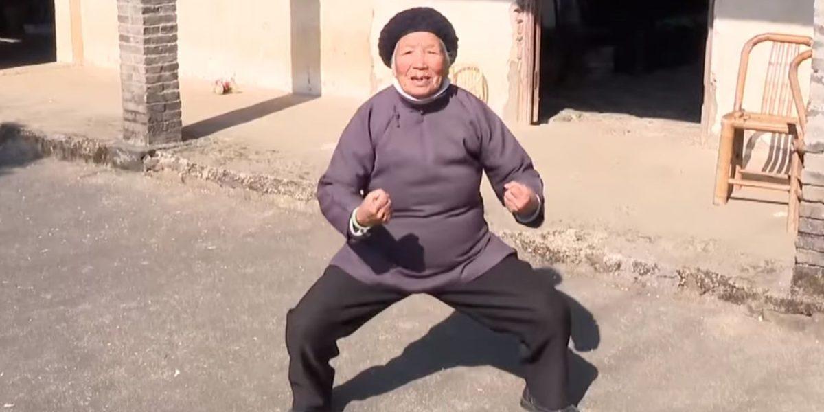 VIDEO: Abuelita de 94 años es la sensación en internet porque sigue practicando kung fu