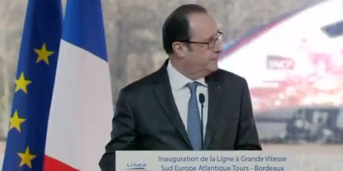 Video: Reportan disparos durante discurso de Francois Hollande