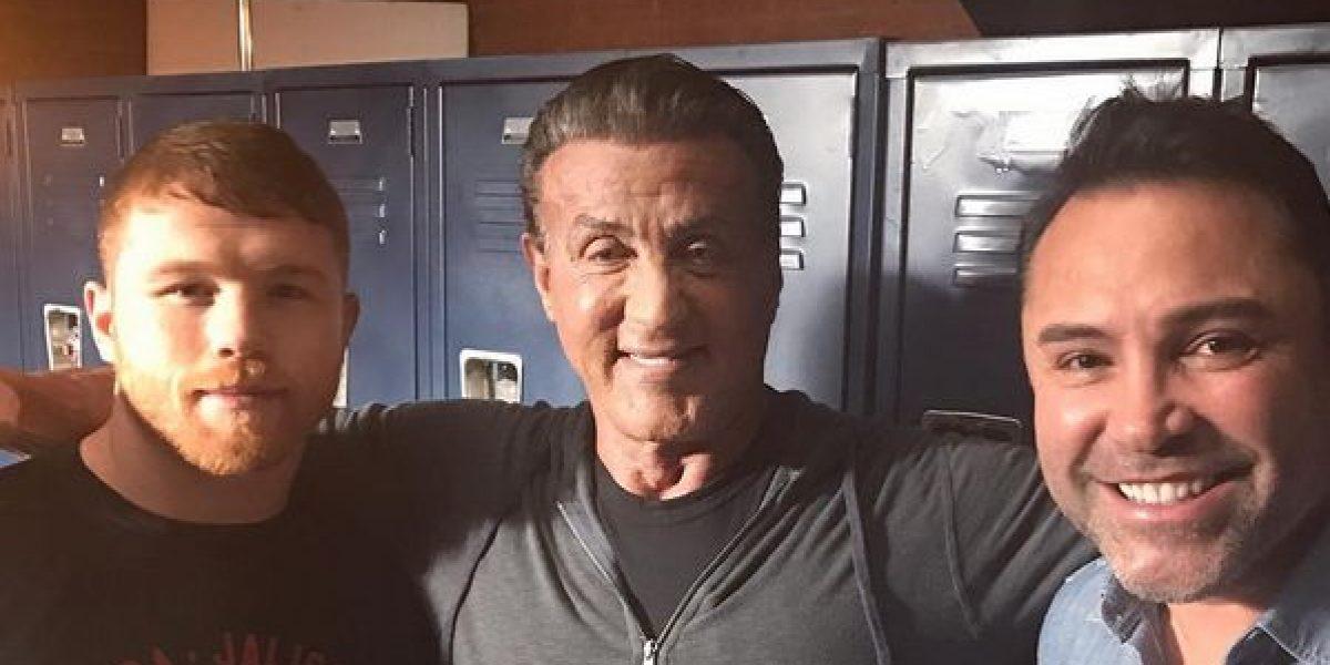 """Canelo Álvarez """"entrena"""" con 'Rocky'"""
