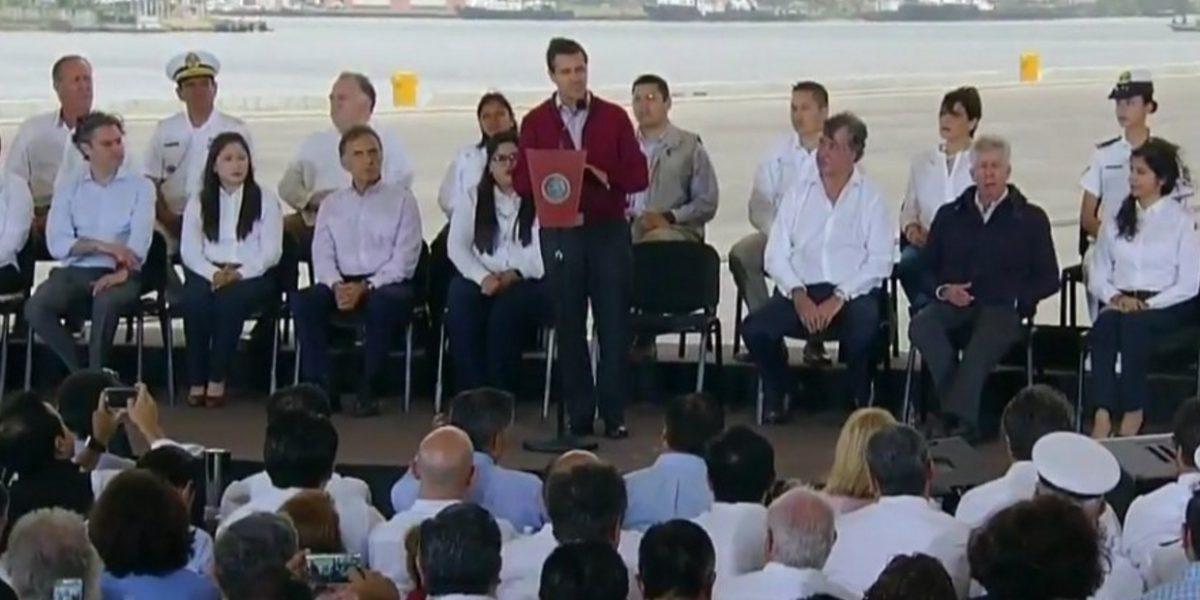 Peña Nieto se compromete a combatir inseguridad en Veracruz