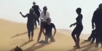 Rod Stewart simula ejecución en Abu Dhabi