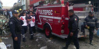 Registran explosión en vivienda de Tultepec