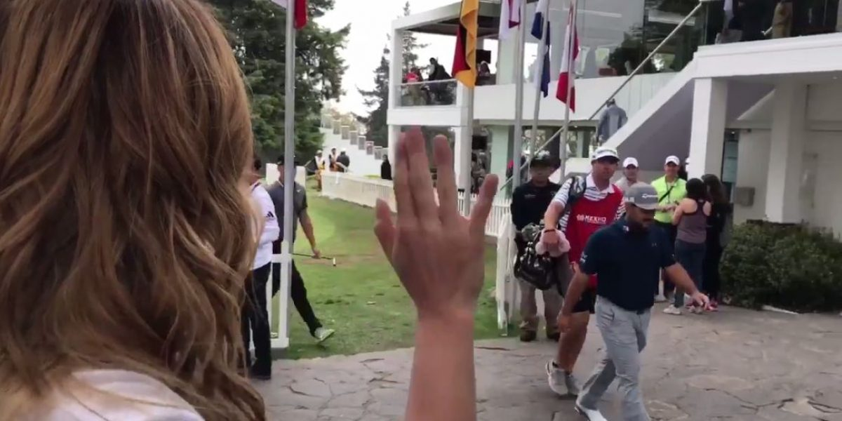 VIDEO: Patty López estalla contra golfista mexicano que la ignoró