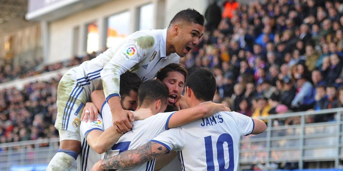 Real Madrid golea al Éibar con doblete de Benzema