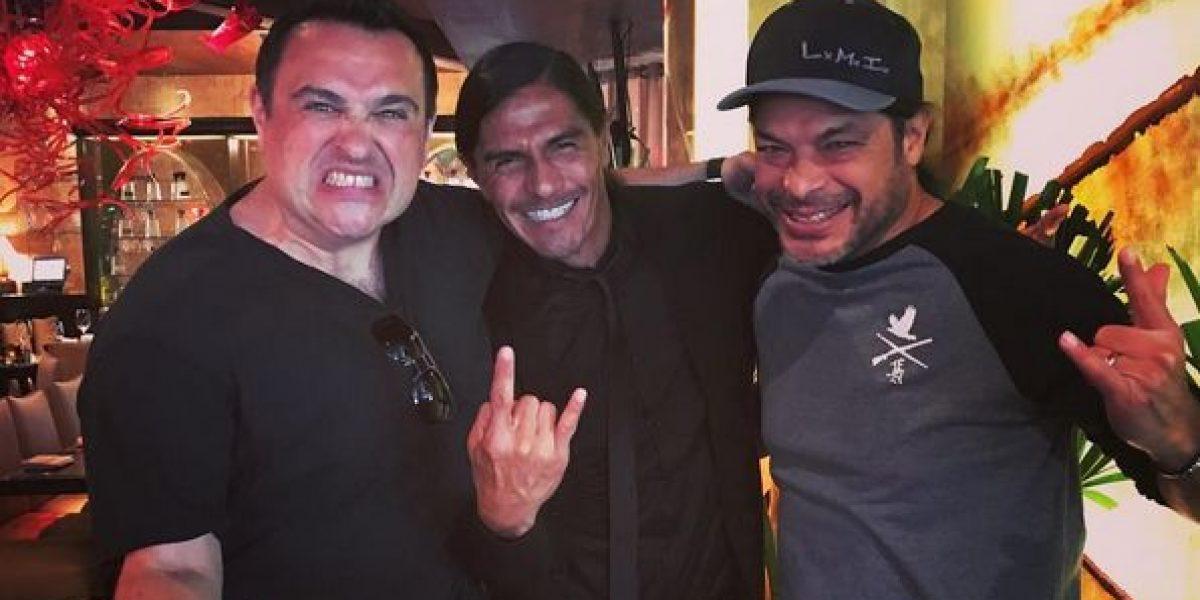 Para celebrar el triunfo de Pumas Paco Palencia se fue al concierto de Metallica