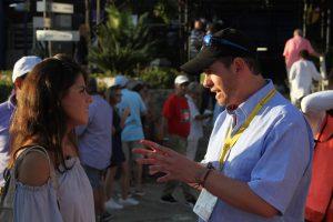 . Imagen Por: Paulina Peña Pretelini y Alfredo Castillo, titular de la Comisión Nacional de Cultura Física y Deporte (Conade)   Foto: Nicolás Corte