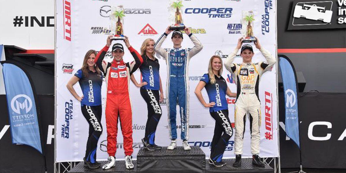 Monterrey sube al podio en la Indy Lights en Florida