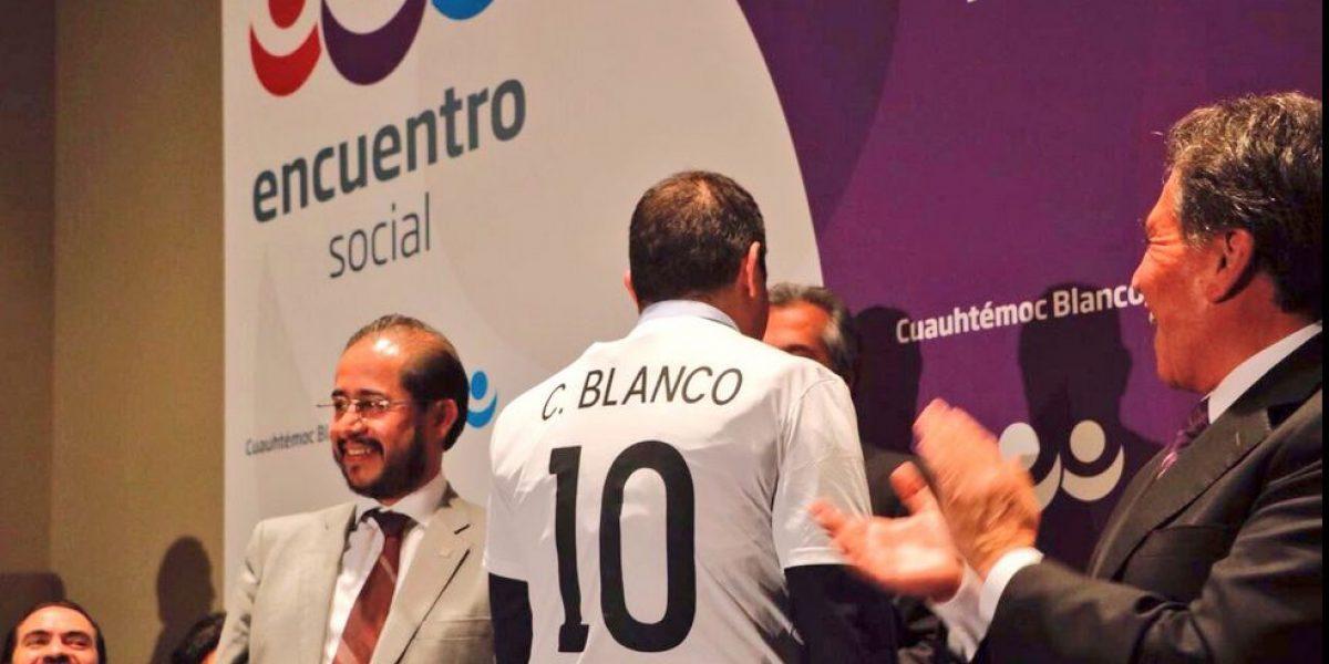 Cuauhtémoc Blanco ya es militante del PES; quiere gobernar Morelos