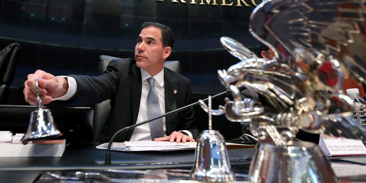 Senado no reconoce al coordinador del PRD: Pablo Escudero