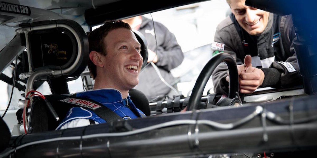 Mark Zuckerberg se convierte en piloto de Nascar