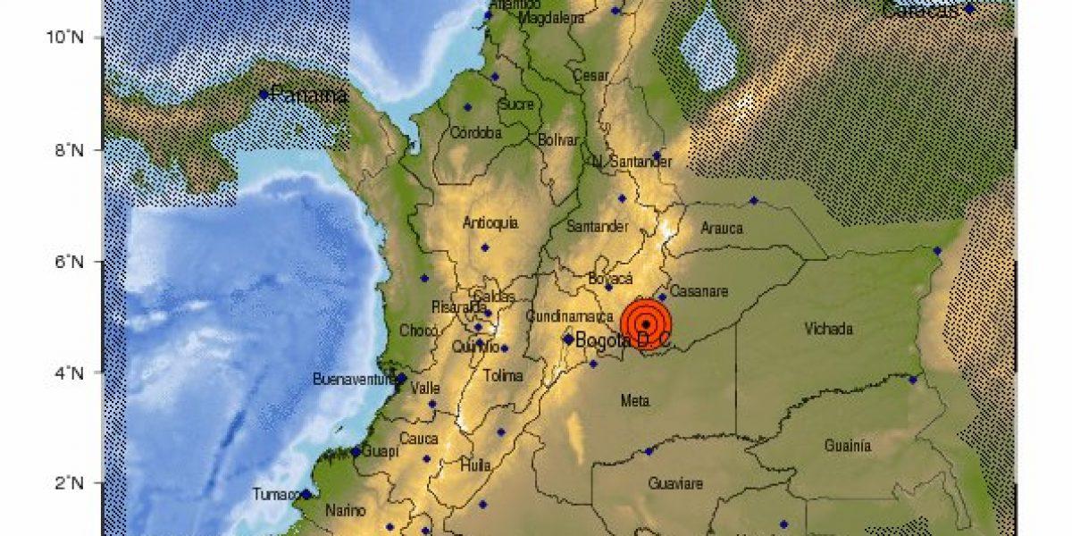¡Atención! Temblor en Colombia con magnitud 4.9