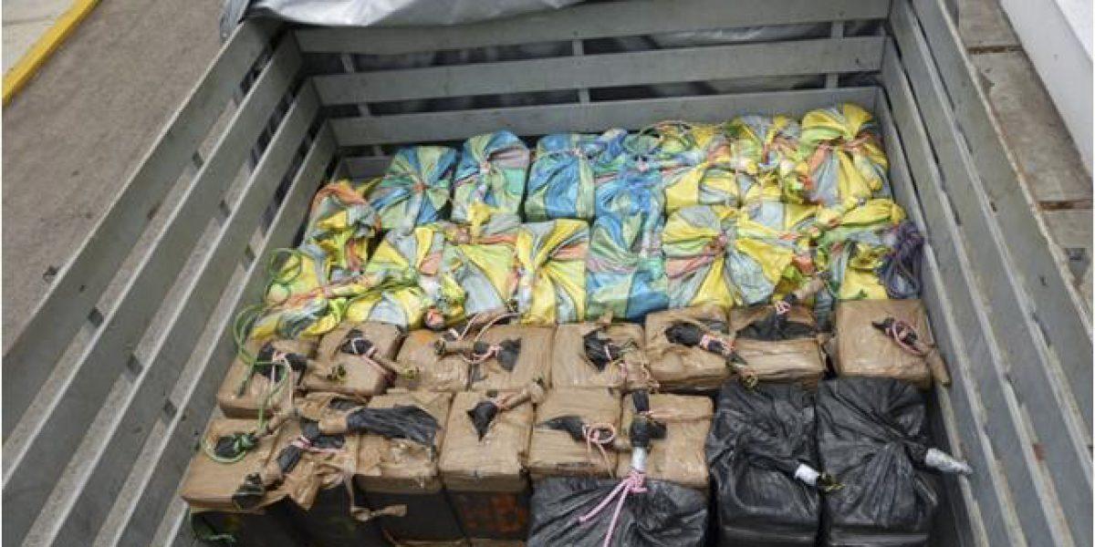 Incautan en Colombia 400 kilos de cocaína con valor de 27 mdd